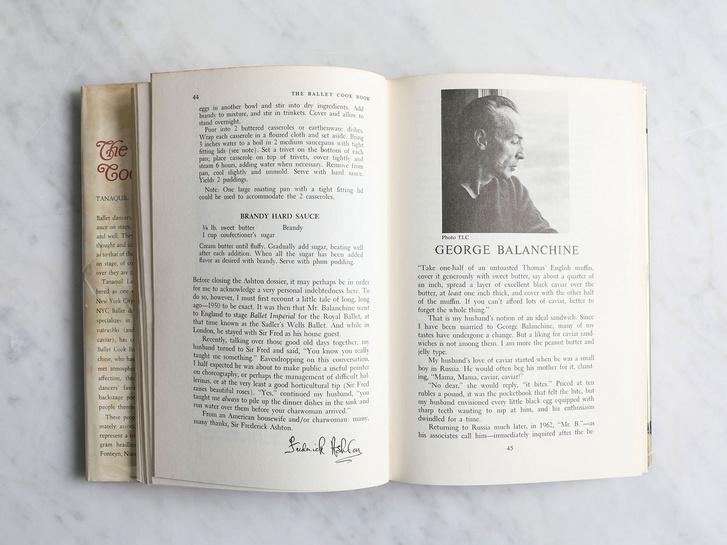 """A The Ballet Cokk Book"""" című könyv Balanchine-fejezete"""
