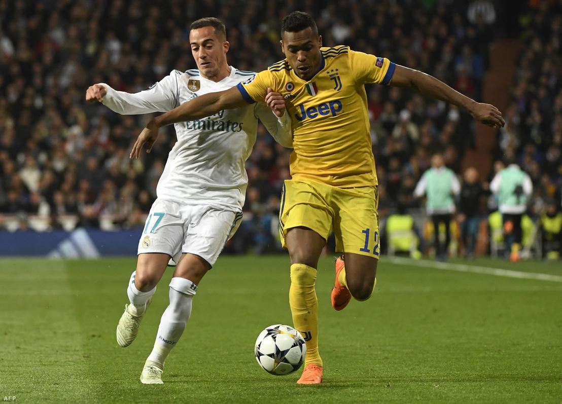 Lucas Vasquez és Alex Sandro a Real-Juve-meccsen 2018. április 11-én