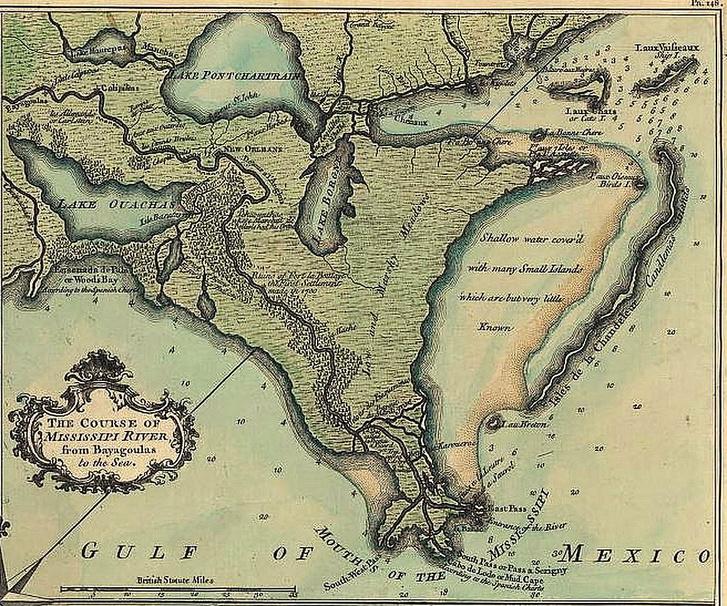 New Orleans és környéke, 1720.