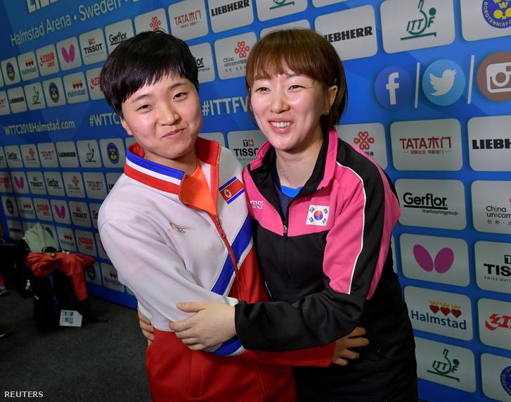 Az észak-koreai Kim Song és a dél-koreai Suh Hyo-Won
