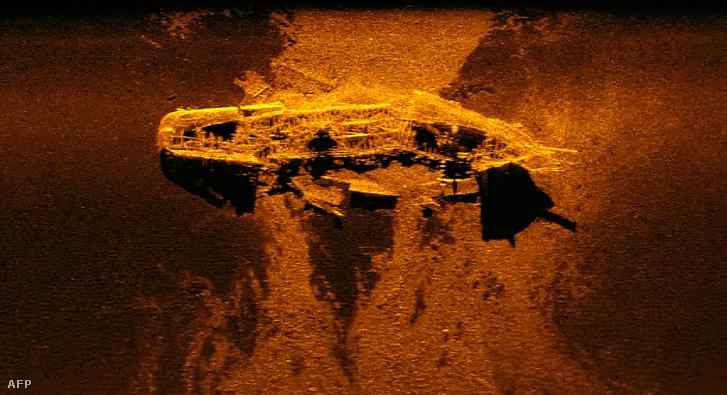 A hajó szonárképe