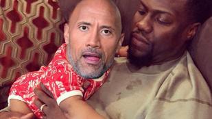 Nagyon furcsa photoshop háború robbant ki A Szikla és Kevin Hart között