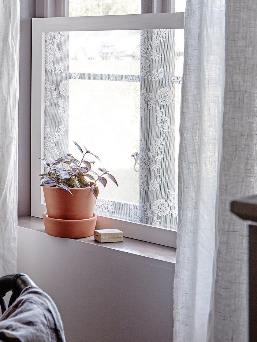 Ha egy sűrű szövésű csipkét egy régi ablakkeretre szögelsz, bármelyik nyitott ablak elé beteheted szúnyogháló gyanánt.