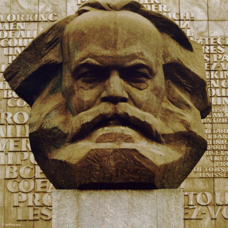 1985, Németország Chemnitz (Karl Marx Stadt), Karl Marx emlékmű a Brückenstrasse (Karl Marx Allee) és a Strasse der Nationen kereszteződésénél.