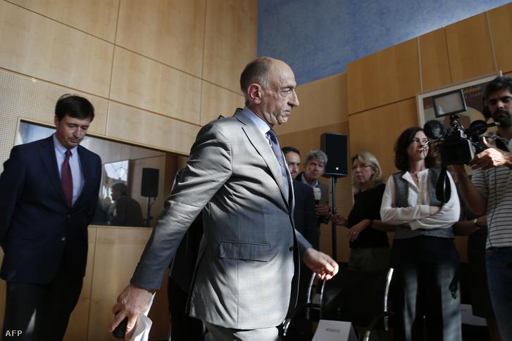 Jean-Marc Janaillac a pénteki sajtótájékoztatóra érkezik