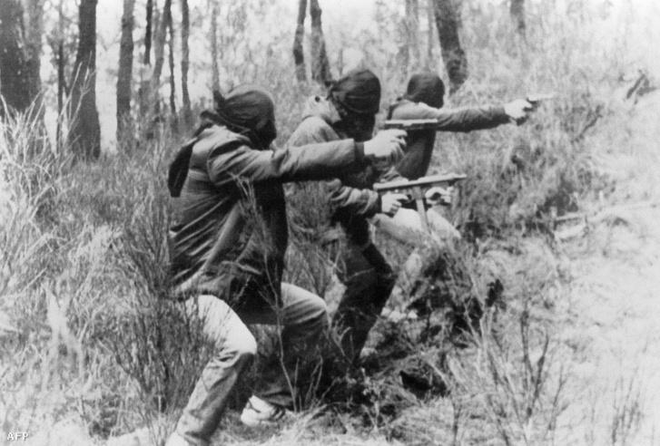 ETA terroristák kiképzőtábora, valahol a baszk hegyekben, 1982-ben