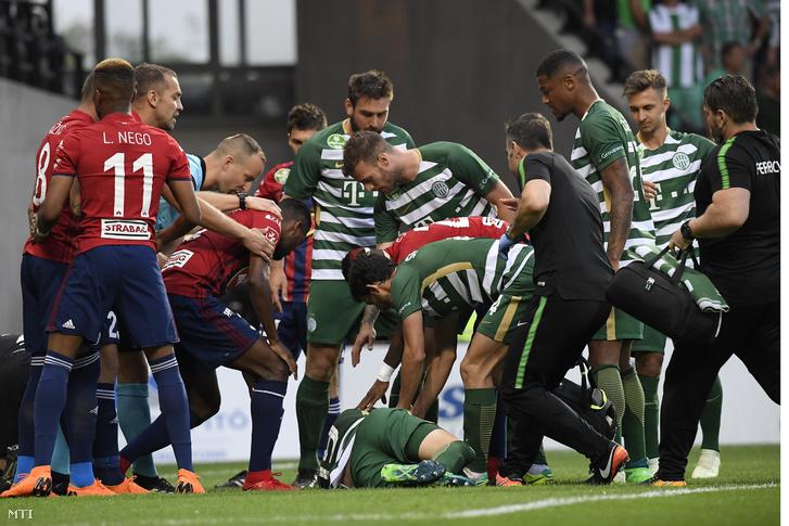 Julian Koch a Videoton elleni meccsen esett össze
