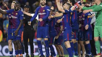 Piqué improvizált, Barca-dolgozók adtak díszsorfalat