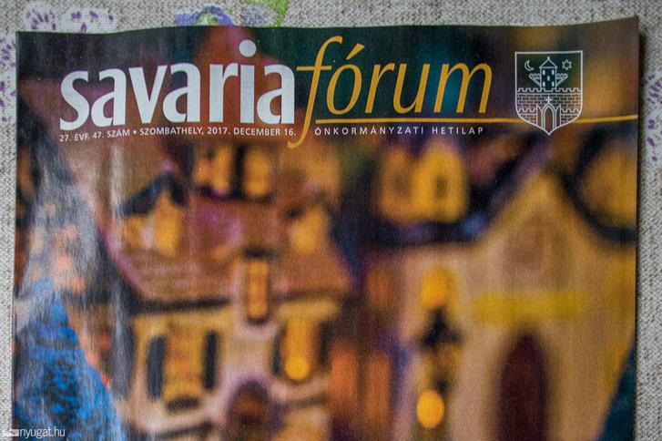 Az utolsó Savaria Fórum címlapja