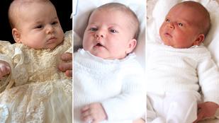 Katalin hercegné és Vilmos herceg gyermekei közül melyik volt a legcukibb újszülött?