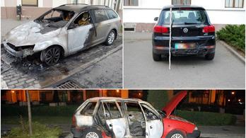 17 éves fiú autókat gyújtogatott szándékosan