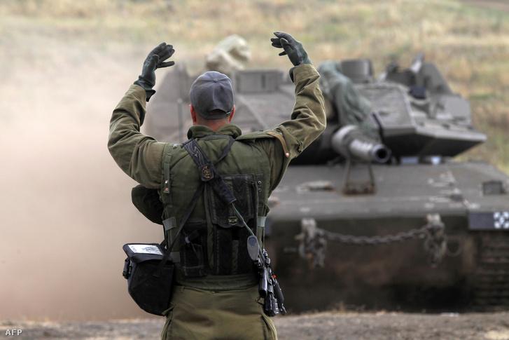 Izraeli hadgyakorlat a Golan-fennsíkon 2018. május 7-én