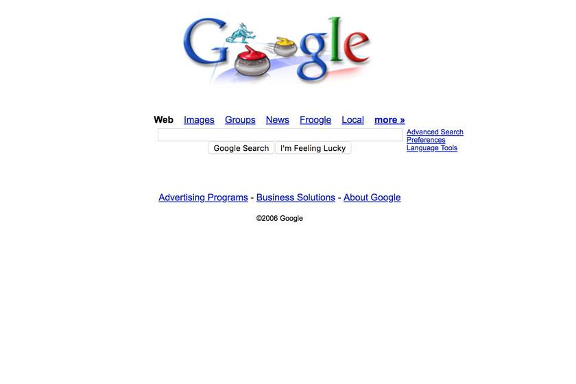 Ilyen volt a Google 2006-ban.