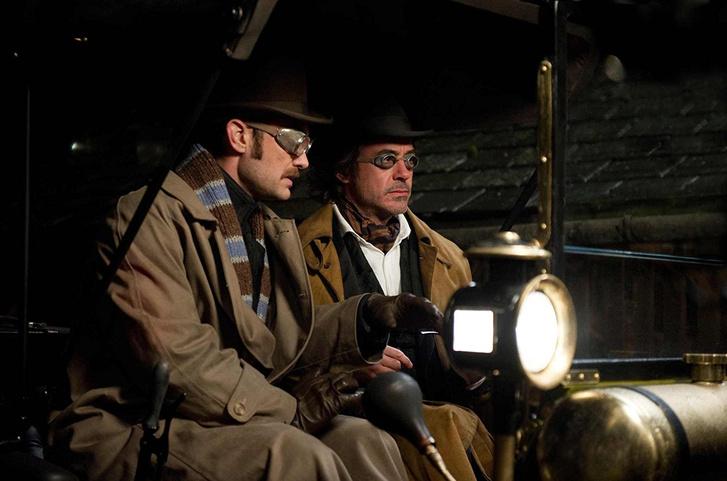 Jude Law és Robert Downey Jr. a Sherlock Holmes 2. részében
