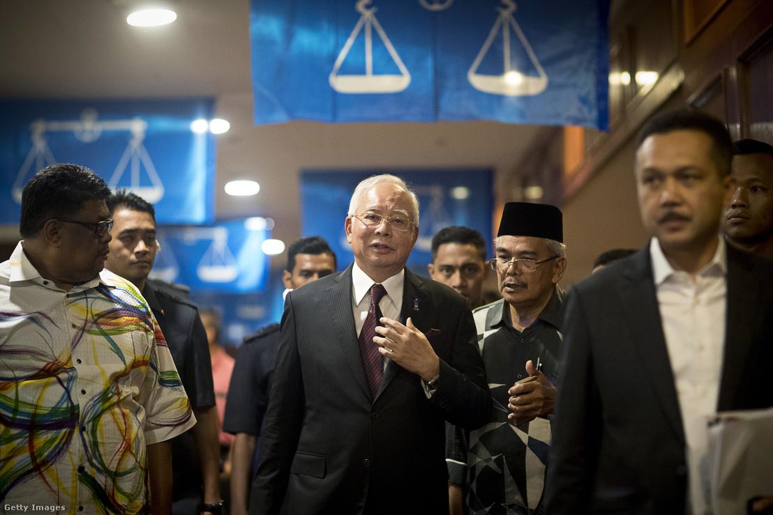 Najib Razak egy kampányrendezvényen 2018 április 24-én