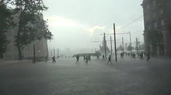 A tüntetés vége, amit elvitt a vihar