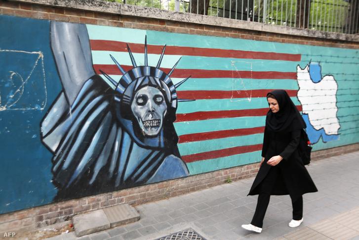 Teheráni utcakép 2018 május 8-án