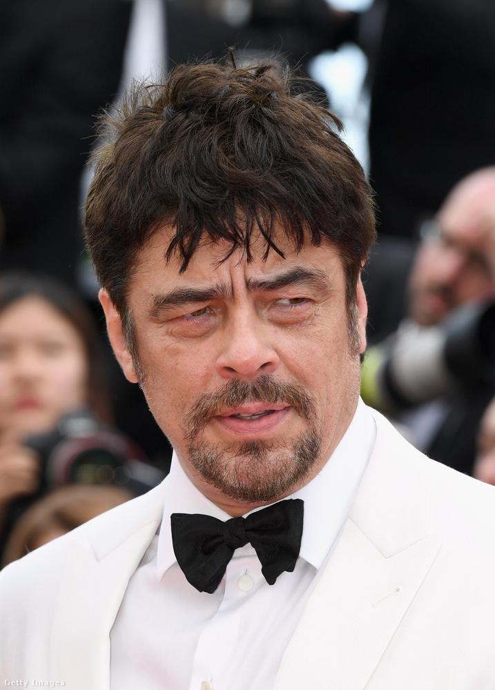 Benicio Del Toro itt vagy nagyon csábosan akar nézni, vagy nagyon nem ért valamit.