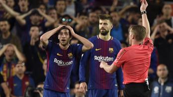 Négy meccset kapott a Marcelót lekönyöklő Sergi Roberto