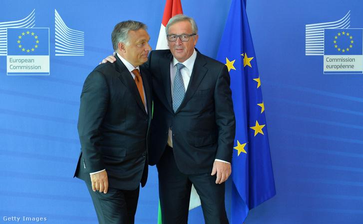 Orbán Viktor és Juncker találkozója Brüsszelben 2015. szeptember 3-án
