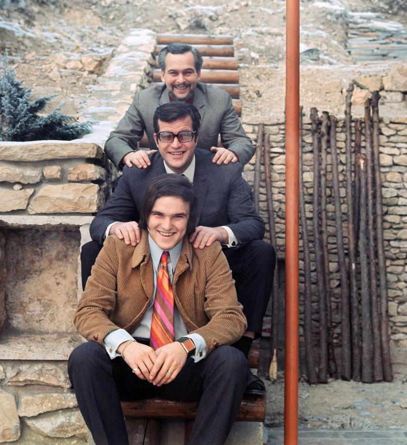 A három testvér: Latinovits, Bujtor és Frenreisz.