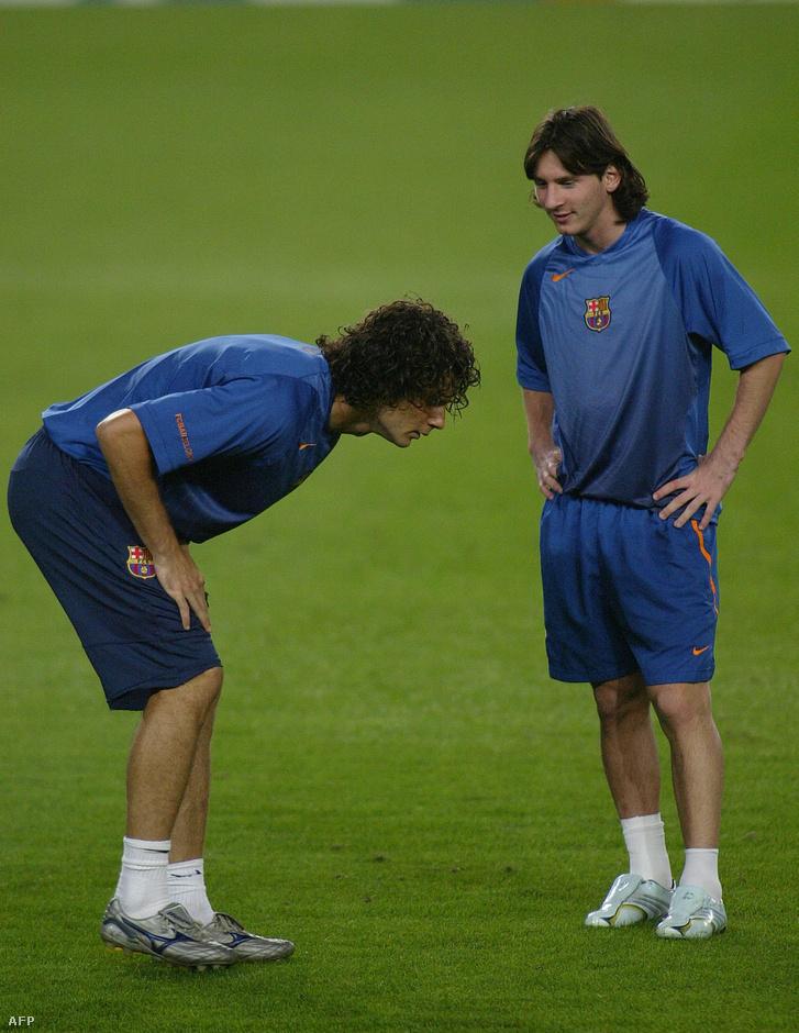 Motta és Messi egy Barca-edzésen