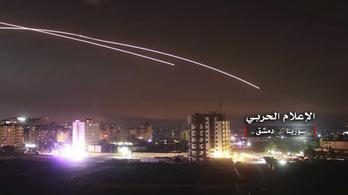 Az izraeli légierő azonnal visszavágott a Szíriából kilőtt rakétákra