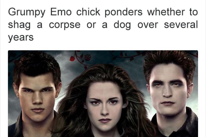 Morcos emo csaj évekig azon rágódik, hogy egy hullával vagy egy kutyával hetyegjen.