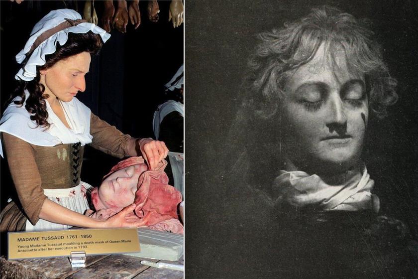 Marie Antoinette maszkja attól fogva mindig kísértette őt. A maszk készítéséhez a levágott fejet előkészítő fiatal Marie viaszmását el is készítették.