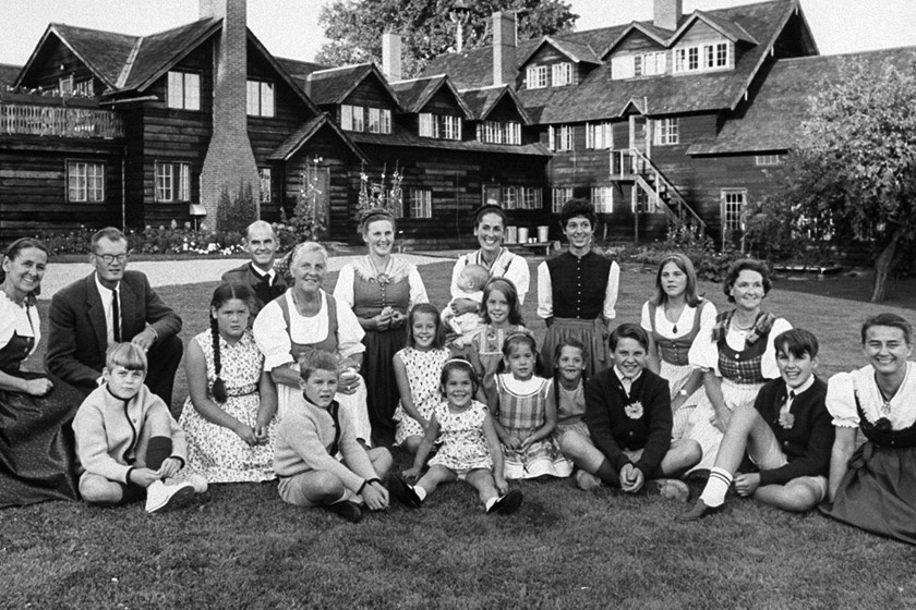 A von Trapp család 1965-ben, már Vermontban.