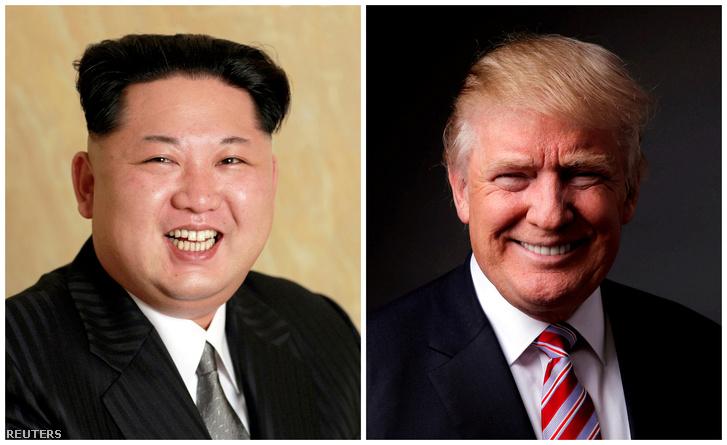 Kim Dzsongun és Donald Trump