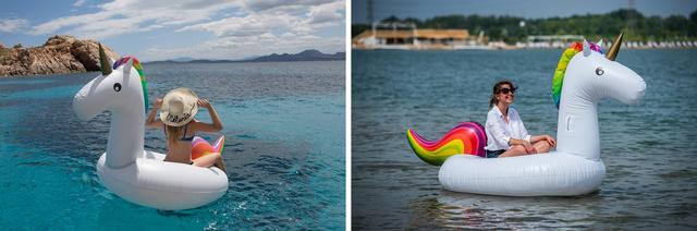 1. Melyik unikornis ringatózik a Lupa-tó vízén kolléganőnkkel?
