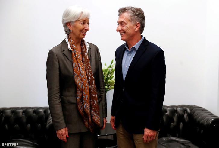 Christine Lagarde és Mauricio Macri Buenos Airesben 2018. március 16-án