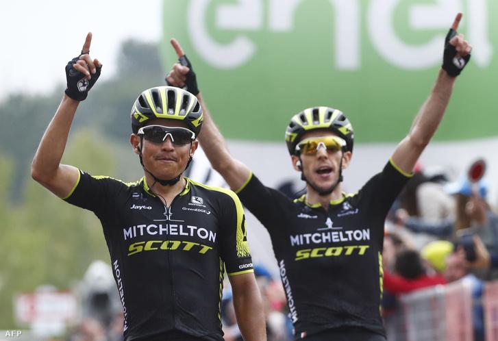 Esteban Chaves nyerte a Giro d'Italia 6. szakaszát csapattársa, Simon Yates előtt