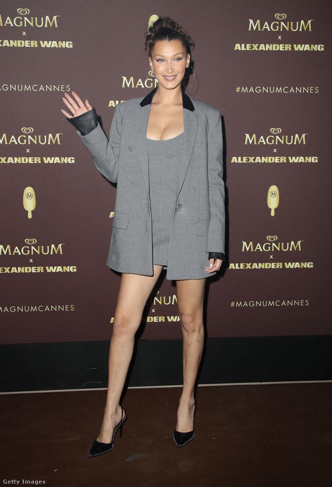 Na, de itt is van egy már befutott modell, Bella Hadid.