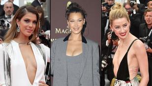 Extramély dekoltázsok lepték el a Cannes-i vörös szőnyeget