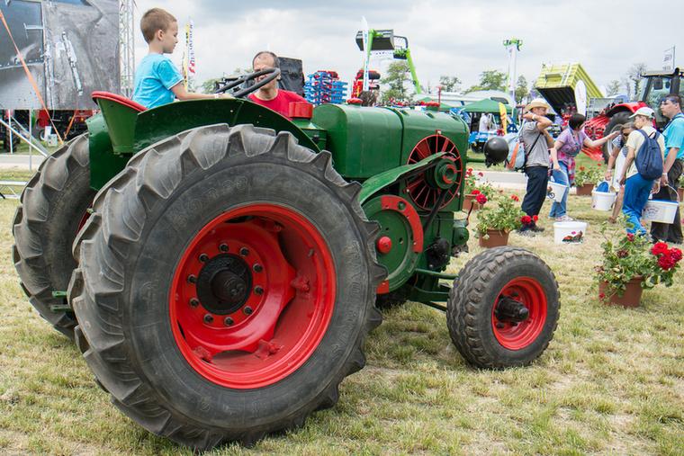 Háziasított Hofherr-traktor, gumikerekekkel