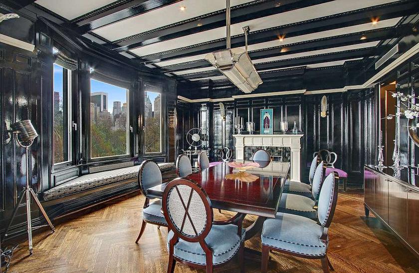 Egyszerre keverednek a rusztikus és a modern elemek a lakásban - ilyen gyönyörű volt a pár étkezője.