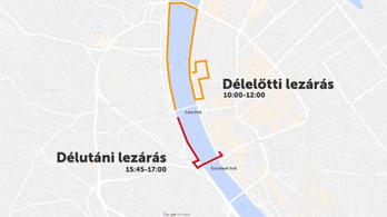 Egész nap lezárások és terelések lesznek Budapesten