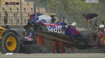 Kettétört a Toro Rosso Hartley bukása után