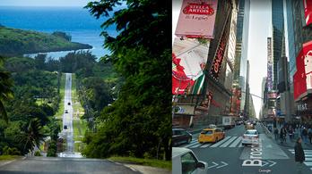 Egy sziget New York utcáival, ahol annyi az autó, mint egy magyar kisvárosban
