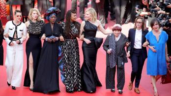 A nemi alapú megkülönböztetés ellen tüntettek Cannes-ban