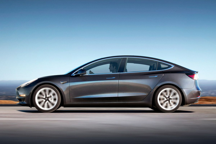vrg tesla model 3 profile midnight silver