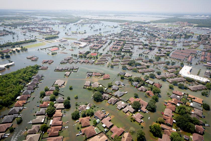 Ezt művelte Texas-szal a Harvey hurrikán.