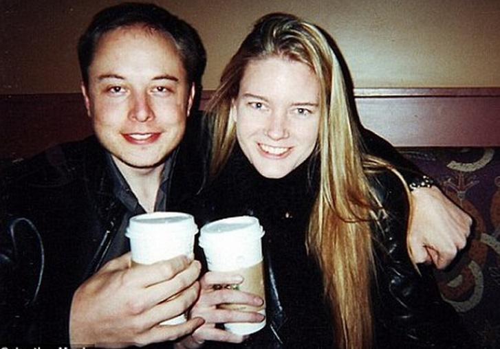 Első feleségével, Justine-nel valamikor régen