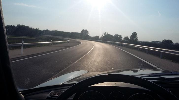 Zúzás Dunaszerdahely felé az új győri hídon