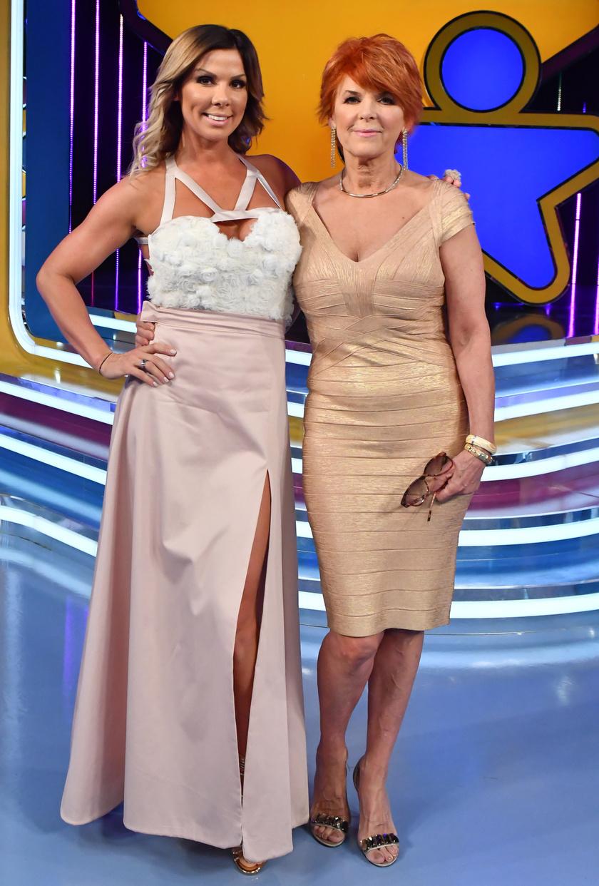 Pirner Alma édesanyja bátran bújhat Hervé Léger stílusú, testhez álló ruhába.