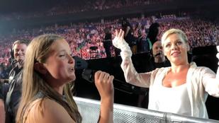 Egy 12 éves kislány kampányolt, hogy Pink koncertjén énekelhessen. Összejött