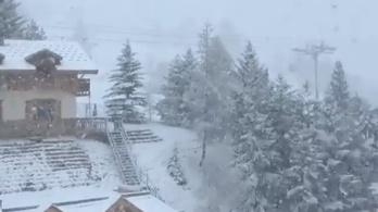 Volt, ahol fél méternél több hó hullott az Alpokban