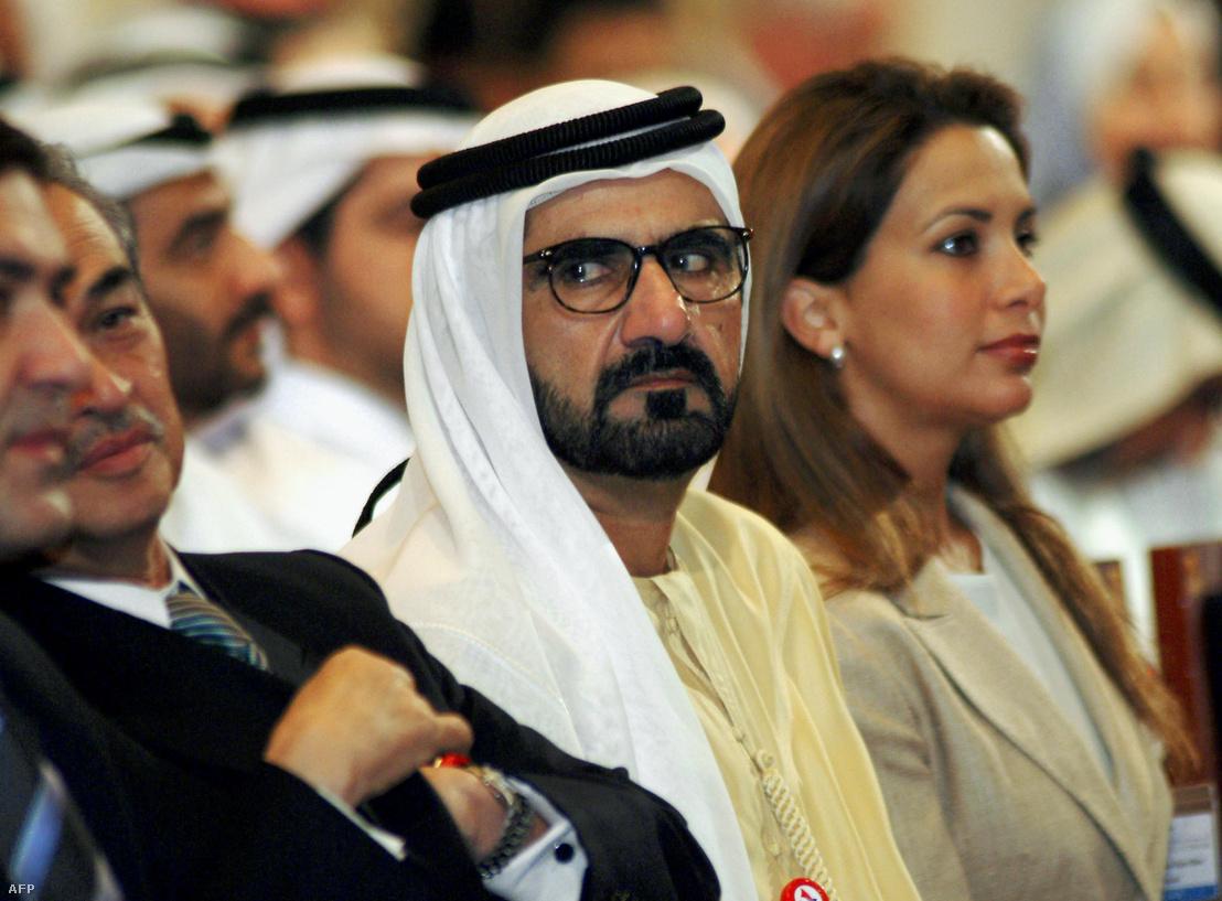 Mohamed bin Rasid al-Maktum és felesége